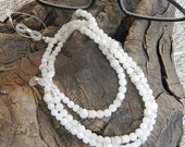 "White moonstone eyeglass chain 28"" long delicate iridescent semiprecious stone jewelry packaged in a colorful gift bag 1172"