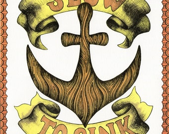 Anchor Print Slow to Sink 11x14