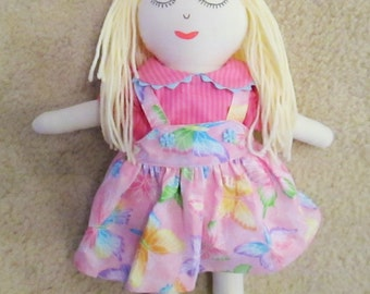 Cuddly rag doll, 15 inch