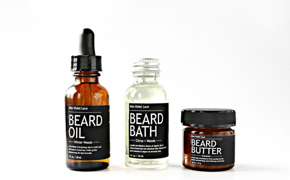 Men 39 s gift set beard oil beard bath wash by missvioletlace for Mens bath set