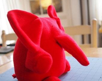 Elephant Plush Toy - Hug Me Elephant softie - Red Elephant