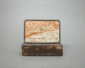 Belt Buckle Vintage Map Carlsbad Caverns National Park New Mexico Unique Gift for Him or Her