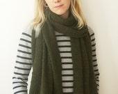 Pure cashmere Khaki Big scarf