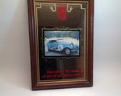1970's Rolls Royce Blue Silver Ghost Mirror Advertising