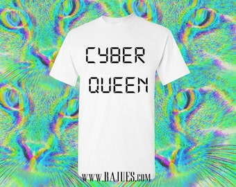 Bajues Cyber Queen White T-Shirt Unisex All Sizes