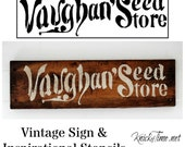 Antique Sign Stencil - Seed Store