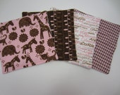Wash Cloths or Reusable Wipes, Design Your Own, You pick the fabrics, set of 4
