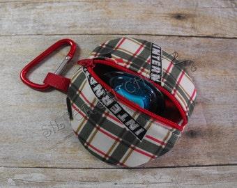Paci Pod, Plaid Case IH, Paci Pod, Earbud Case, Diaper Bag Accessory, Fabric Pacifier Case, Binky Case, Nuk Case, Zipper Bag