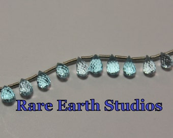 Natural Blue Topaz Beads Briolette 9x5mm 60315098