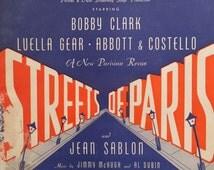 1939 South American Way Streets Of Paris Al Dubin Jimmy McHugh Song Book Sheet Music