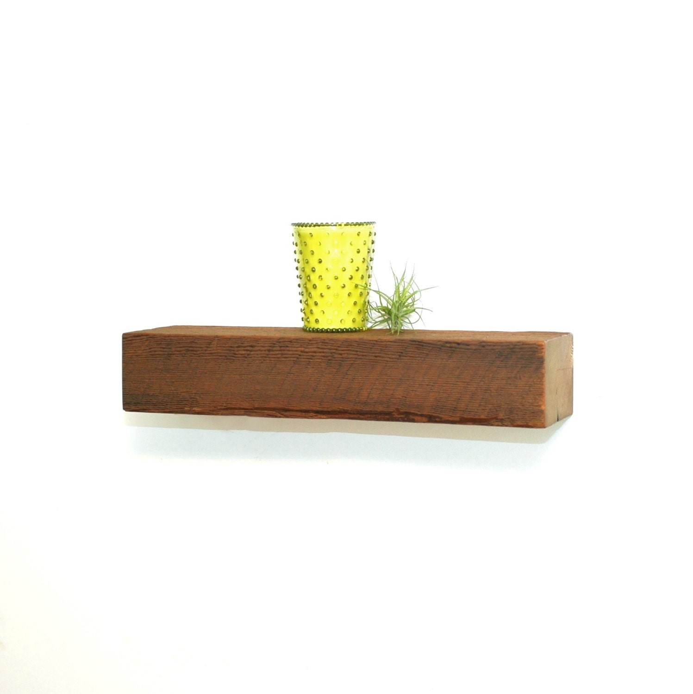 Reclaimed Wood Shelf ~ Reclaimed wood floating shelf