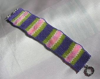Handmade Peyote Stitch Cuff Bracelet