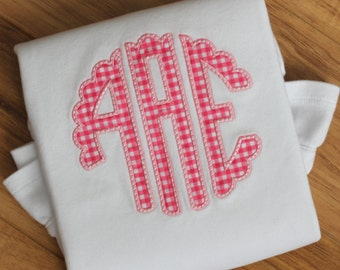 Girls Monogram Appliqué Shirt