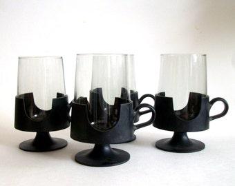 Vintage Mid Century / Mod Glas Snap Coffee Mug /Saarinen Tulip Inspired