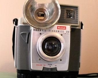 Say Cheese.. Vintage Kodak Brownie Flashmite 20 Camera, Vintage Camera