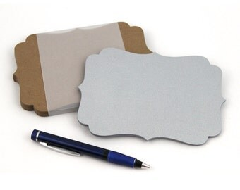 """Large Note Cards, blank A7 cards, 5"""" x 7"""" die-cut bracket wish tree tags, place cards, DIY greeting card, top note card"""