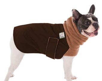 FRENCH BULLDOG Winter Coat, Winter Dog Coat, Waterproof Dog Coat, Winter Jacket,  Winter Clothes, Fleece Neck Warmer, Dog Snood, Dog Clothes