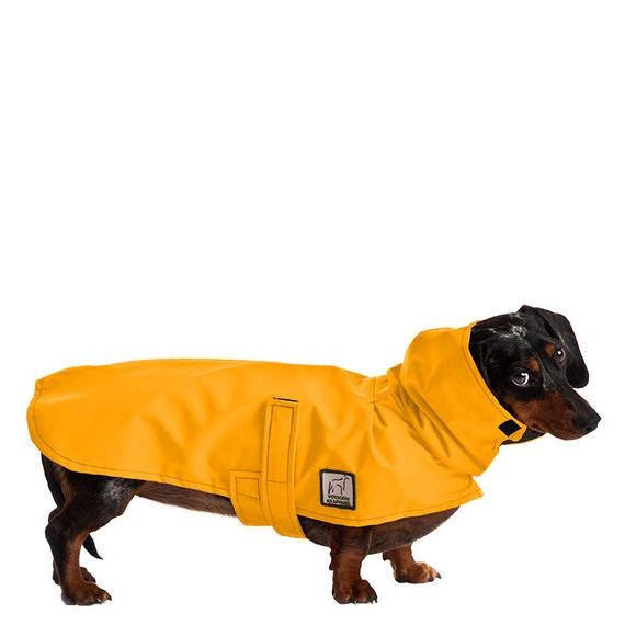MINIATURE DACHSHUND Dog Rain Coat, Dog Coat, Raincoat, Rain Slicker