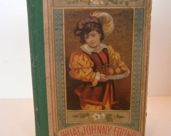 What Johnny Found 1882 Antique Child's Children Book by Lou Burnery Storybook