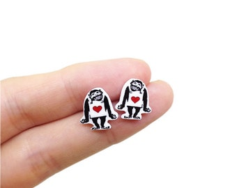 Banksy Happy Monkey Earrings