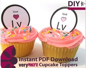 DIY Love (Lv) on the Periodic Table Cupcake Toppers Digital Download
