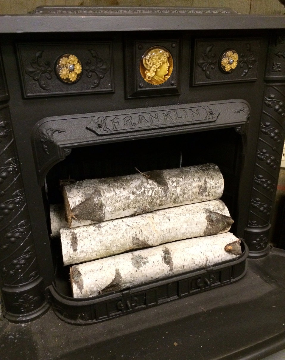 Decorative White Birch Fireplace Logs Quantity Of 6