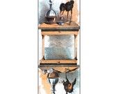 Clean Dirty Dishwasher Magnet - Raven Gets Drunk on Wine - Fritz Spindle Shanks