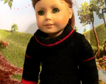 Sweater, Tunic Sweater, Cowl Sweater,  18 inch Doll Clothes