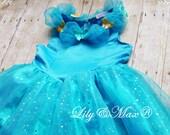 Cinderella Dress blue, cinderella girl costume, new 2016 cinderella outfit, cinderella birthday, cinderella tutu, cinderella party favor