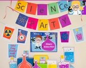 Science Party Decorations & Props Printable Kit - INSTANT DOWNLOAD - Girl Blonde Hair