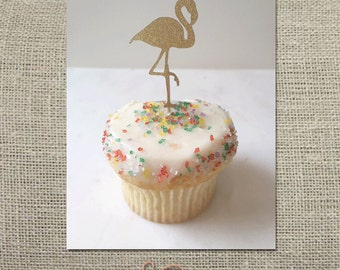Flamingo Cupcake Topper // Party Pick (Set of 12)