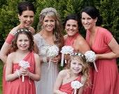 CORAL Bridesmaid Dress Long Short Custom Made Convertible Bridesmaids Dress, Prom Dress, Formal Dress, Party Dress Over 50 Colors -
