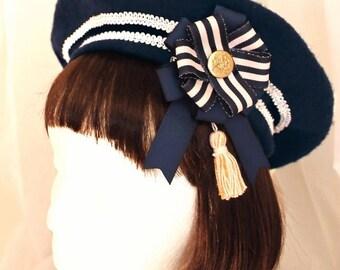 Navy Sailor Beret
