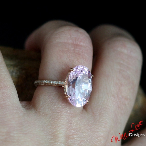 Custom Celebrity Light Pink Sapphire Engagement by WanLoveDesigns