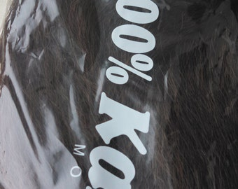 1B/30 - Off Black / Light Auburn Mix Kanekalon Jumbo Braid - Black n Gold High Quality Synthetic Braiding Hair - Dreads, Braids, Extensions