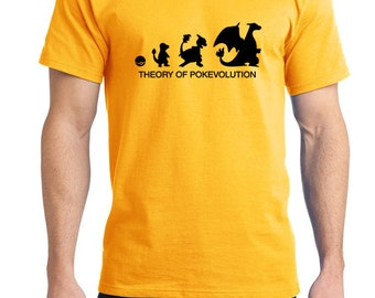 Theory of Pokevolution Charmander Tee Shirt