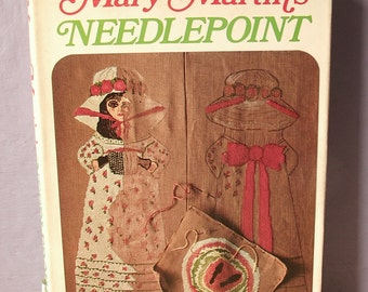 Vintage 1960's Mary Martin's Needlepoint book, 1969, Broadway actress, acting book, Christmas gift, Peter Pan, A Sound of Music