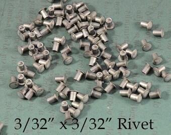 """3/32"""" x 3/32"""" Aluminum Rivets for EZ Rivet Tool System - 100 pieces"""