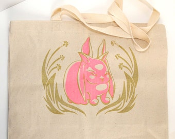Glowing Six Ear Bunny Tote - Heavy Duty