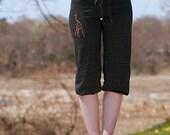 long winded Giraffe Pants, Capris, Yoga Pants, Pajamas, S,M,L,XL