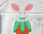Peek-A-Boo Bunny Door Decor Fabric Panel
