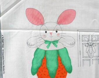 Peek-A-Boo Bunny Door Decor Fabric Panel