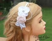 53 Different Colors-Flower Girl Headband-Bridesmaid Headband-Wedding Head Piece