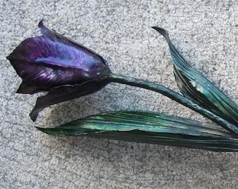 Metal Tulip Sculpture Full Size