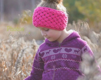 Crochet Pattern for Diagonal Weave Earwarmer Headband - Toddler through Large Adult sizes - Welcome to sell finished items