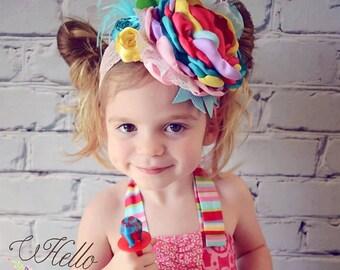 Rainbow Brite Headband