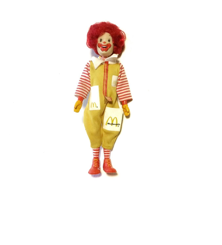 Vintage 1976 Ronald Mcdonald Toy Doll Action Figure