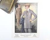 Vintage 1920s Mens Suit Advertising Print, Art Deco Decor, Wall Decor