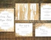 Printable Gold Foil Wedding Invitation Suite | Wedding Invitation Set, Gold Wedding Invitation, Gold Wedding, Wedding Invites