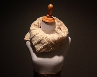 Ivory Hand Knit Scarf - Women - Gift Ideas for Her
